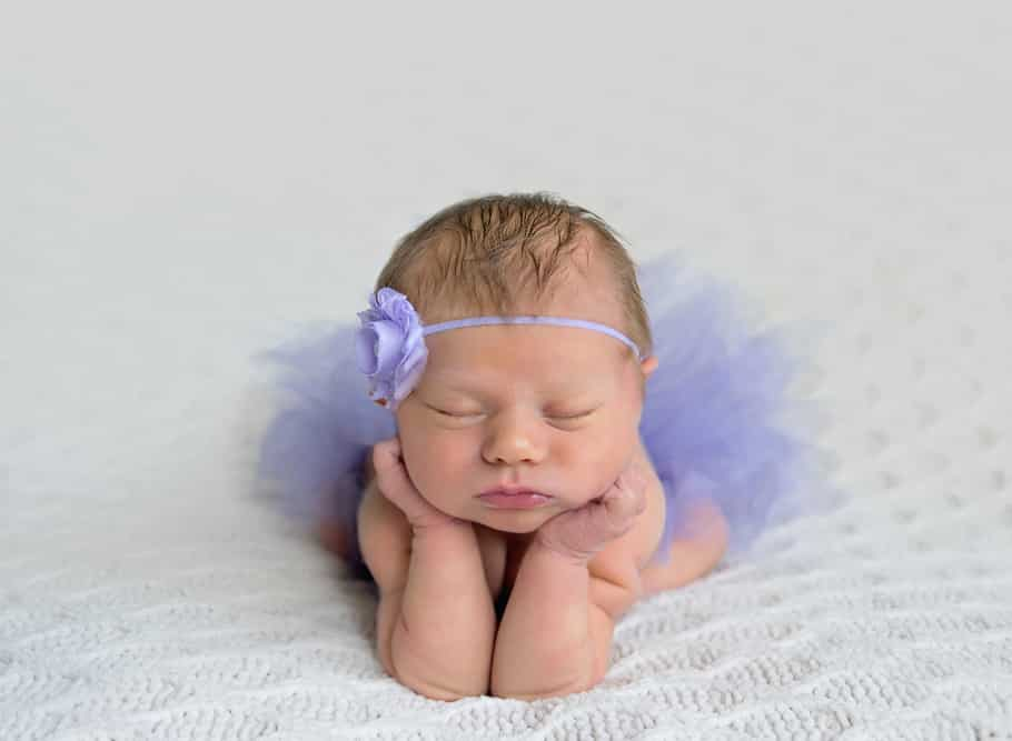 kathy rogers photography, lorain county photographer, newborn photographer, maternity photographer, family photographer, child photographer, senior photographer, photos, pictures, photography, newborn, purple, tutu, sleeping, blanket, baby girl