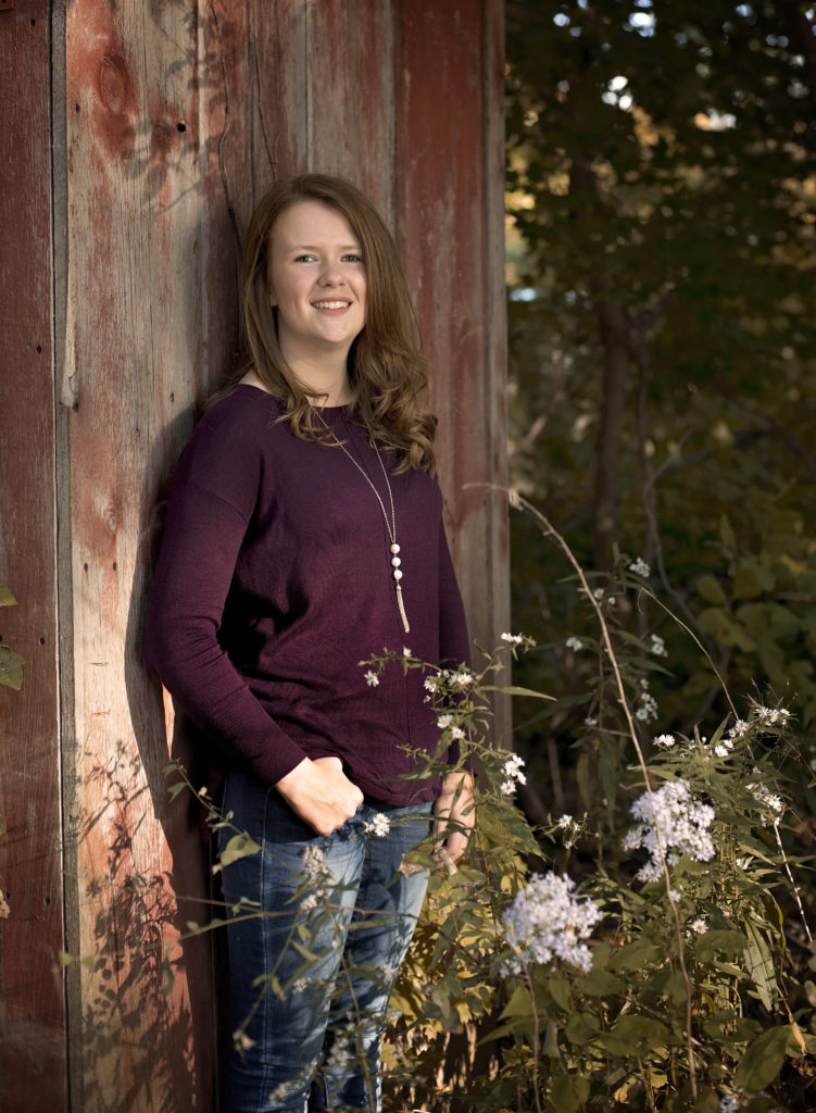 kathy rogers photography, lorain county photographer, newborn photographer, maternity photographer, family photographer, child photographer, senior photographer, photos, pictures, photography, senior, girl, barn, wood, woods, wildflowers, white, trees, class