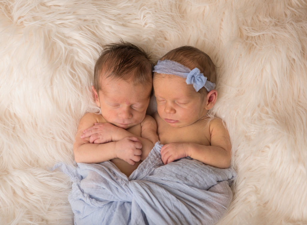 kathy rogers photography, lorain county photographer, newborn photographer, senior photographer, family photographer, maternity photographer, child photographer, photos, photography, pictures, twins, baby boy, baby girl, newborn, headband, wrap, fur, sleeping