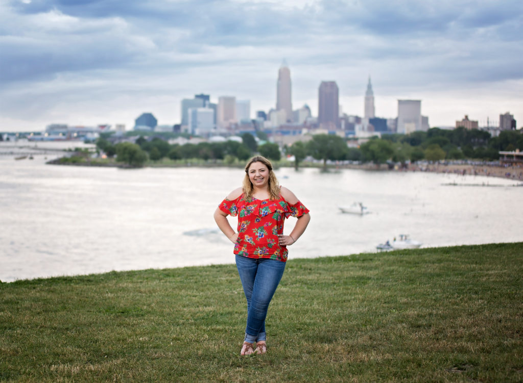 kathy rogers photography, lorain county photographer, newborn photographer, maternity photographer, family photographer, child photographer, senior photographer, photos, pictures, photography, senior, girl, class, cleveland, ohio, edgewater, boats, park, lake, erie, skyline, clouds