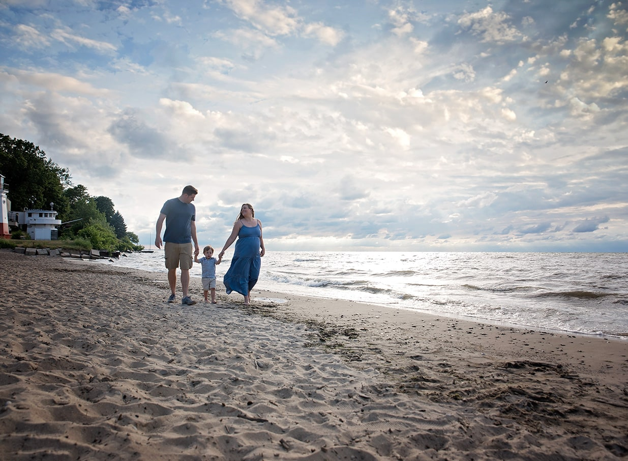 kathy rogers photography, lorain county photographer, newborn photographer, maternity photographer, family photographer, child photographer, senior photographer, photos, pictures, photography, beach, maternity, family, lake, beach, sand, little boy, big brother, sun light, clouds, mother, father
